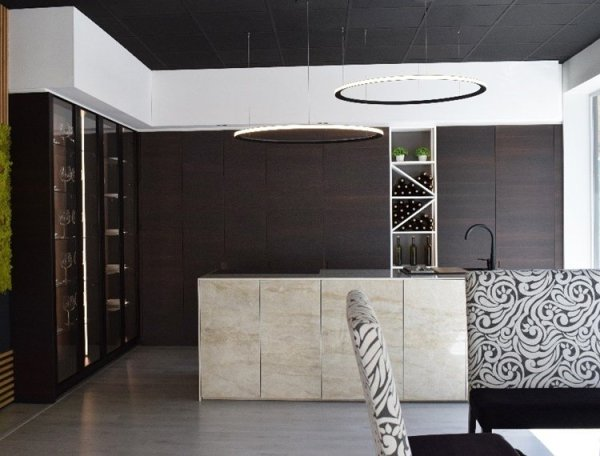 Muebles con aspecto de superficie continua, novedades cocinas 2021.