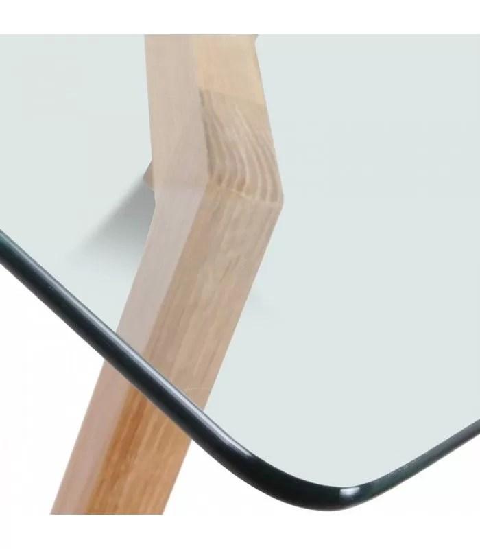 table scandinave en verre et chene massif 6 a 10 couverts fiorda