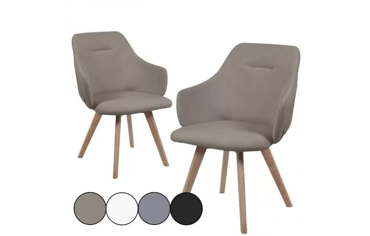 Chaise Avec Accoudoirs Style Scandinave Set De 2