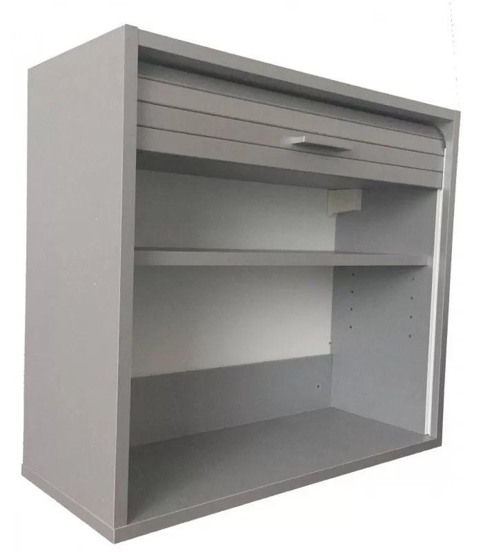 petit meuble de cuisine aluminium avec rideau deroulant 60 cm cooky
