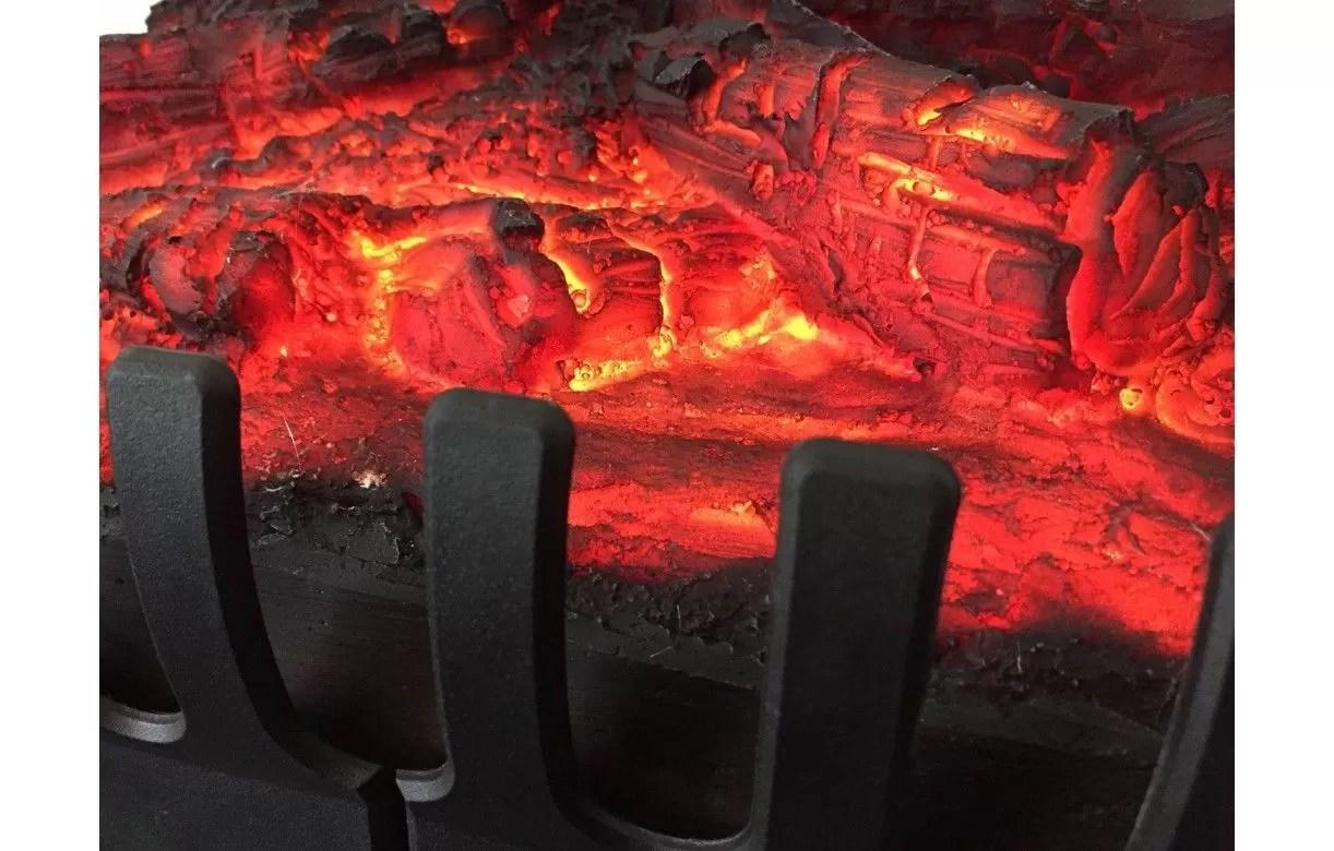 Foyer De Chemine Lectrique Feu De Bois Flammes