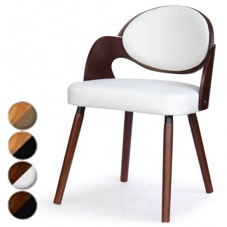 lot de 2 chaises design scandinave estel 4 coloris