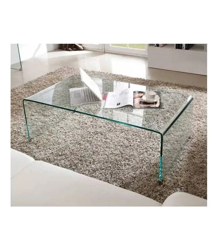 table basse en verre invisio