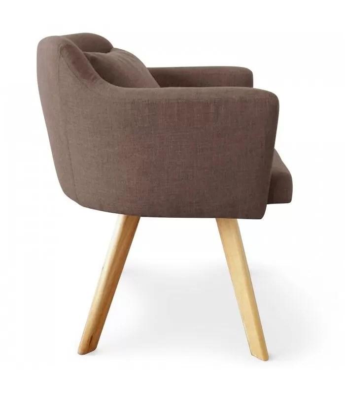 chaise fauteuil scandinave dantes tissu 5 coloris