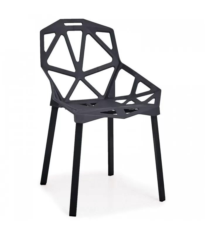 chaise design noire spider lot de 4