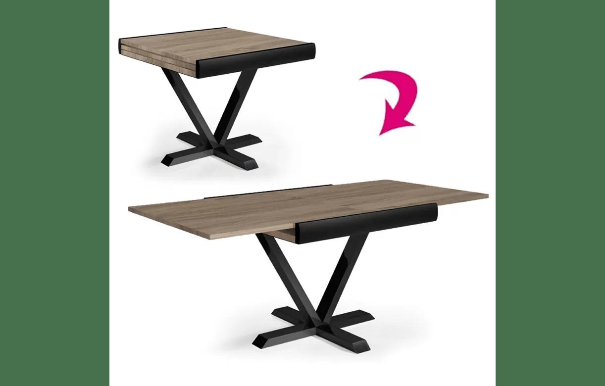 table carree extensible rallonge