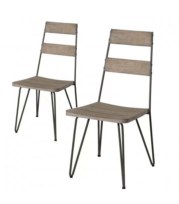 lot de 2 chaises d exterieur bois clair massif bursa