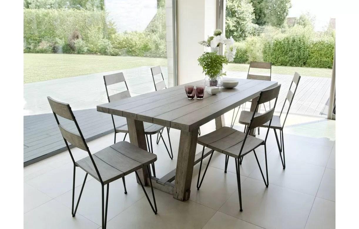 ensemble design table en bois massif