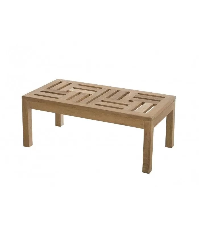 table basse exterieur 100 x 50 cm bois massif pereira