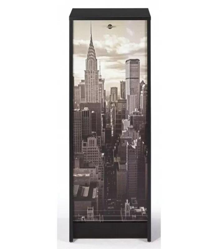 classeur a rideau new york city 105 cm 3 coloris