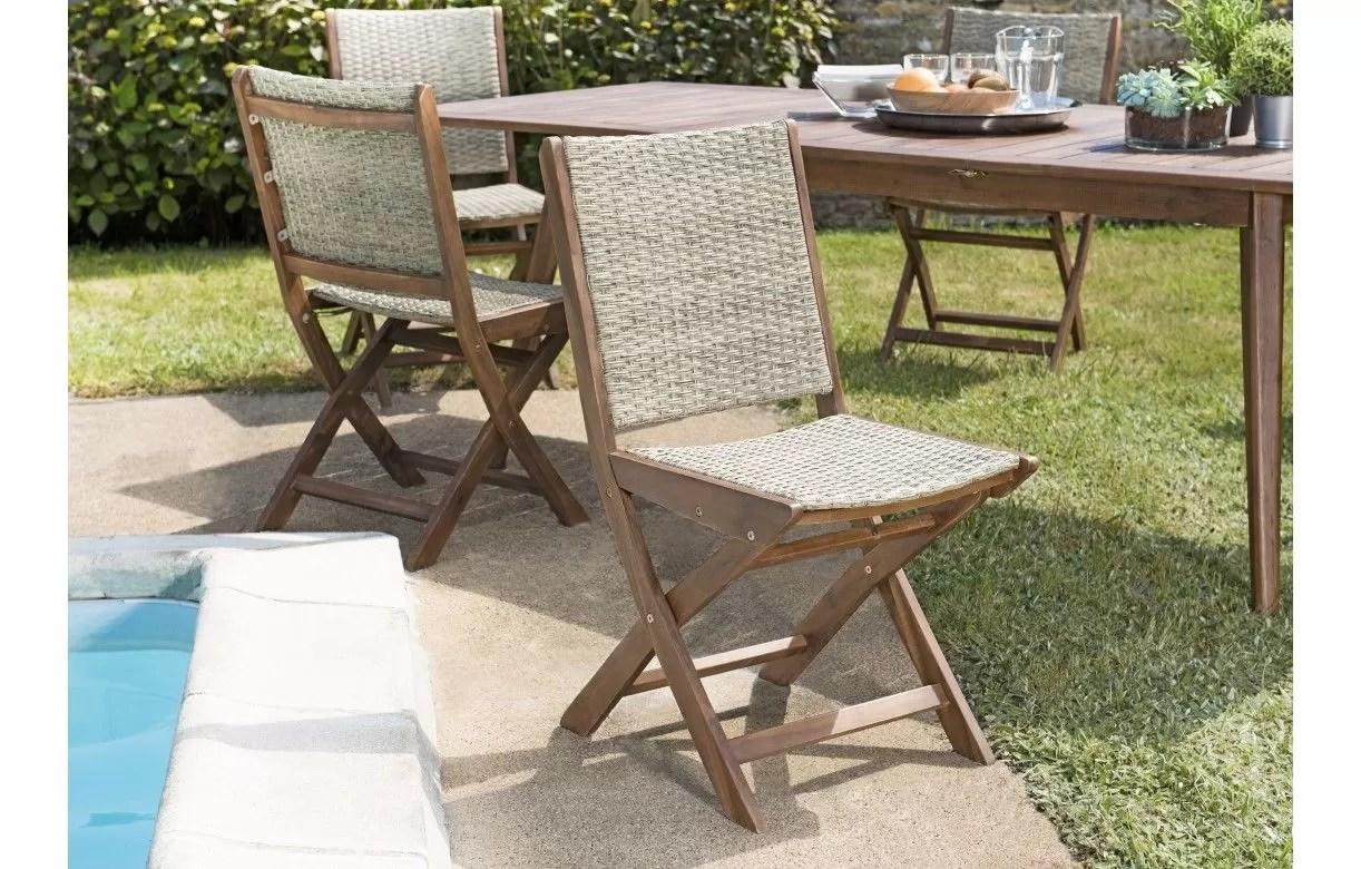 table de jardin extensible 6 chaises
