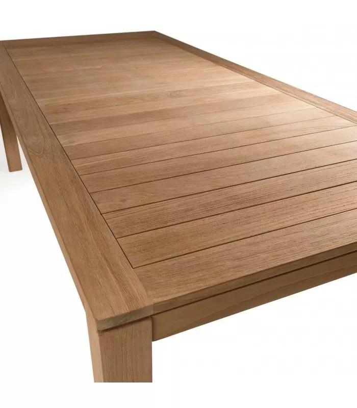 ensemble de jardin avec grande table et 6 chaises en bois massif palu