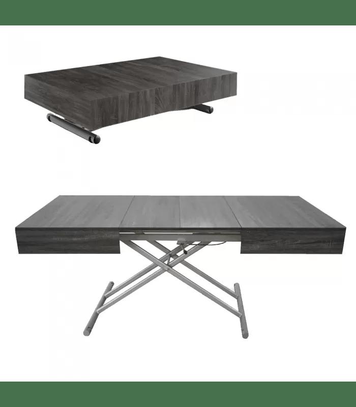 table basse design relevable et extensible cassida 5 coloris
