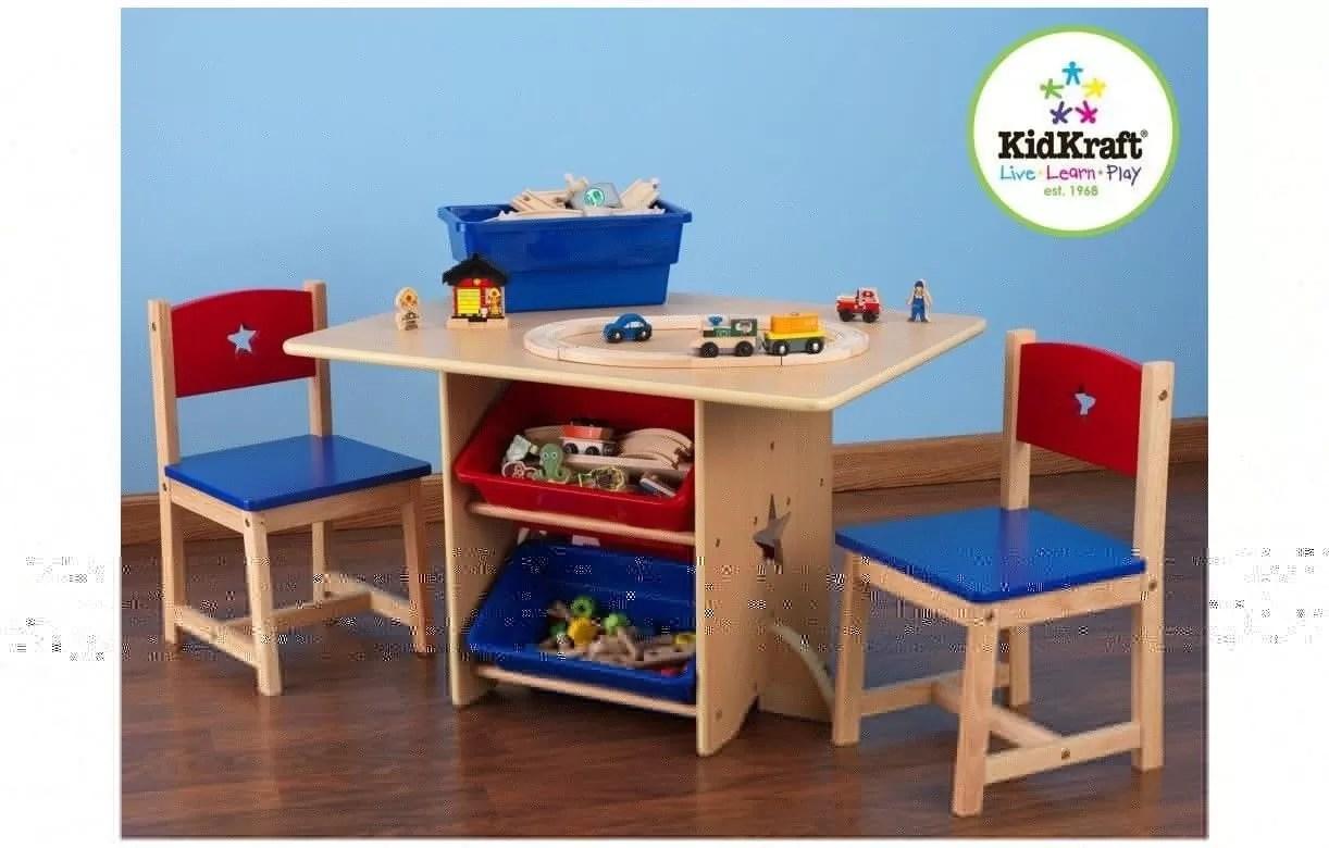 Table Et 2 Chaises Enfant Bleu Rouge Kidkraft 26912