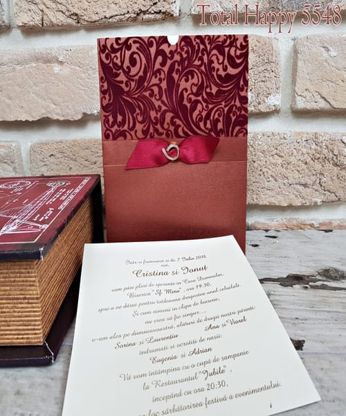 Invitatie de nunta cod 5548 din Catalogul Concept