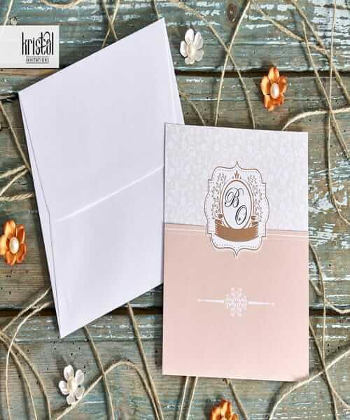 Invitatie de nunta cod 70309 din Catalogul Kristal Boutique