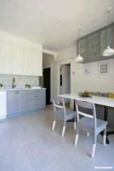 cuisine IKEA banquette grise