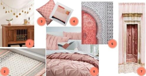 chambre marocaine rose