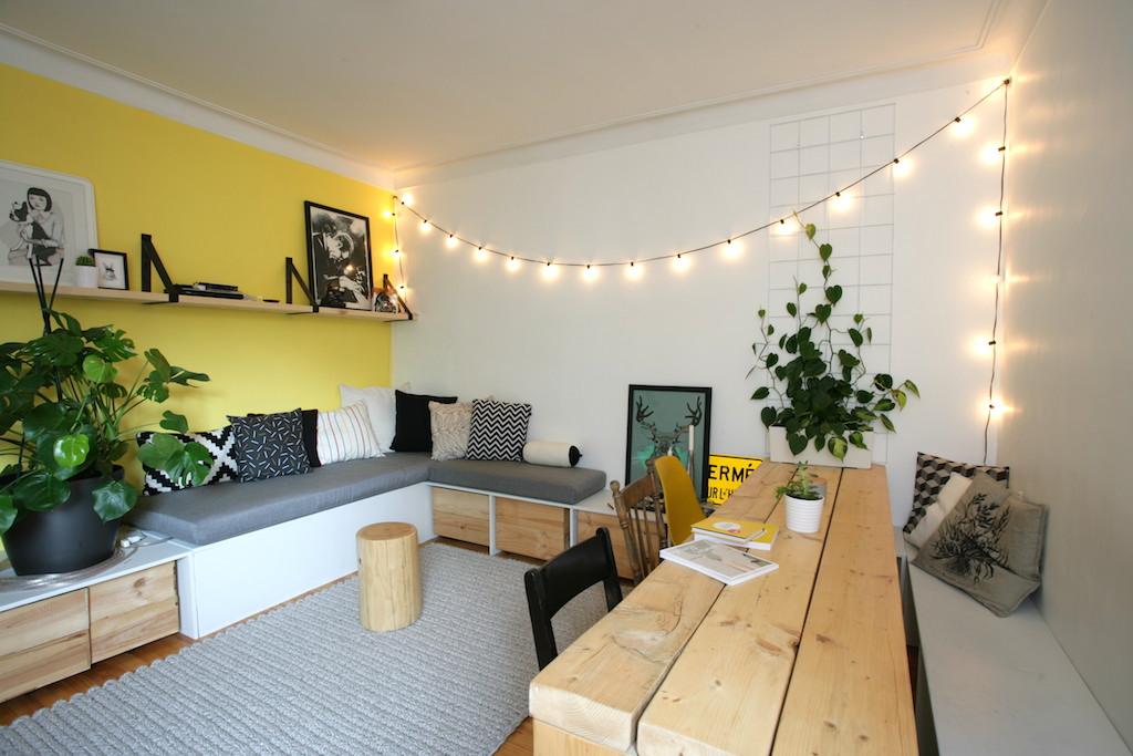 Délimiter un espace avec des tasseaux de bois verticaux déconome