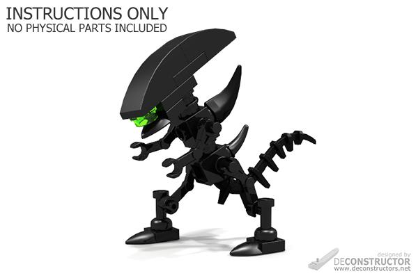 lego alien xenomorph instructions