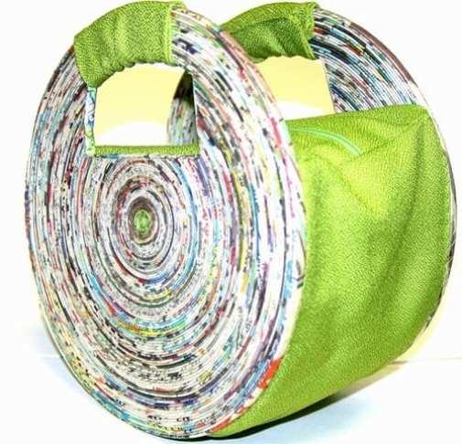 Objetos de diseño con materiales reciclados
