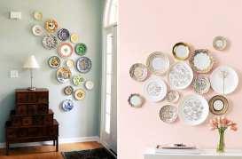 Paredes decoradas con platos