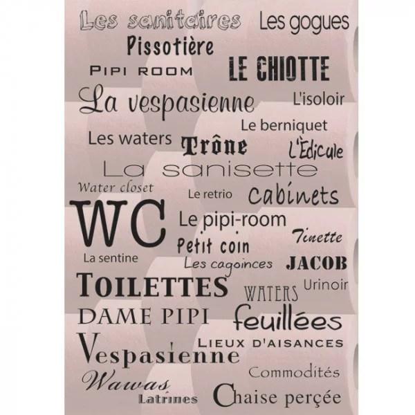 sticker toilettes nuages de synonymes