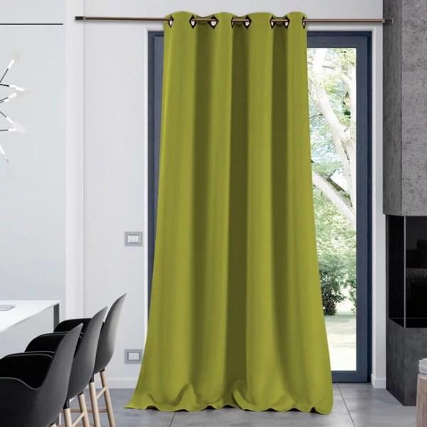 rideau tissu occultant vert anis
