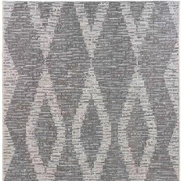 tapis gris motif losange 160 x 230 cm