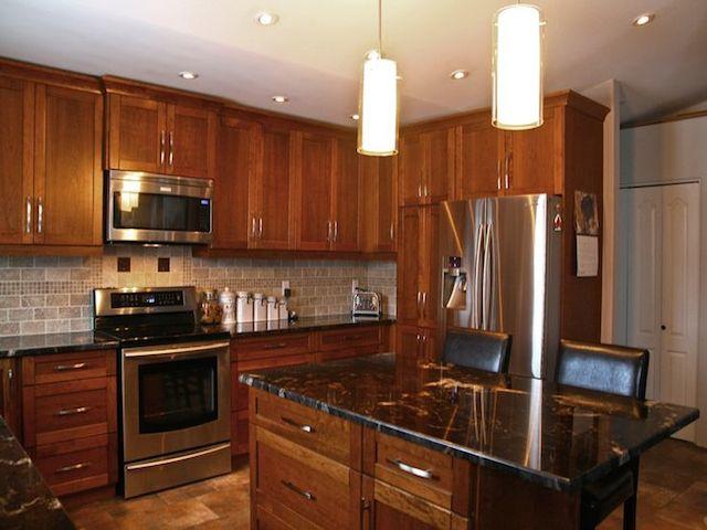 Titanium Granite Countertop Dark Cabinets Backsplash Ideas on Backsplash Ideas For Dark Granite Countertops  id=46521