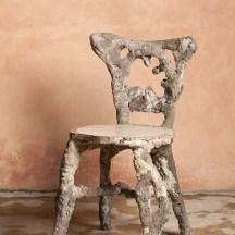 Cette chaise continue de grandir, elle a poussé dans un sous-bois.