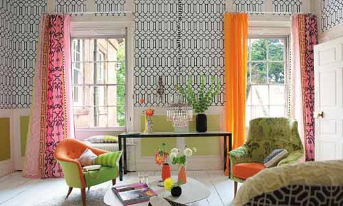 Exciting Image Of Interior Design Decoration With Calico Corner Upholstery  Fabric : Foxy
