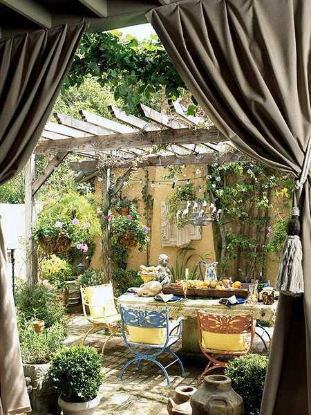 Outdoor Curtains for Porch and Patio Designs, 22 Summer ... on Backyard Patio Decorating Ideas id=40470