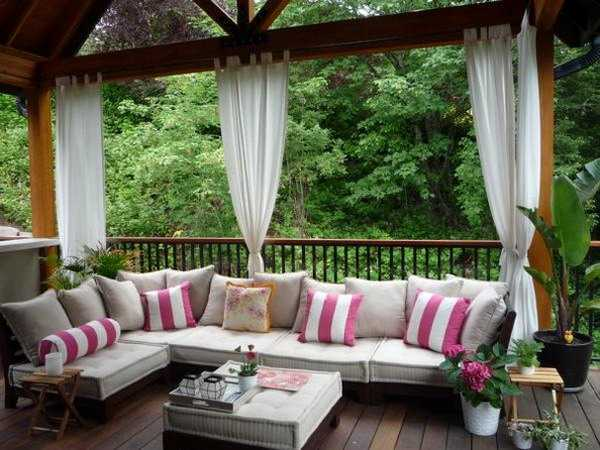 outdoor patio decorating ideas Outdoor Curtains for Porch and Patio Designs, 22 Summer
