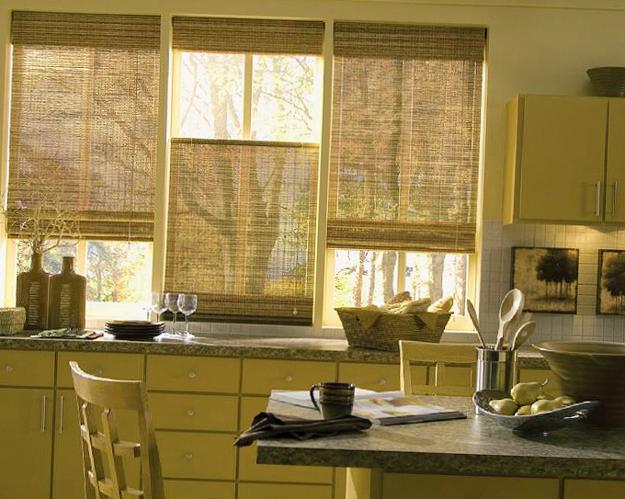 Roman Shades For Modern Kitchens And Bathrooms Decorating