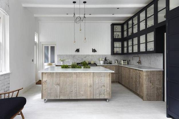 Neutral Colors And Rustic Wood Texture Creating Elegant Interior Decorating In Scandinavian Style