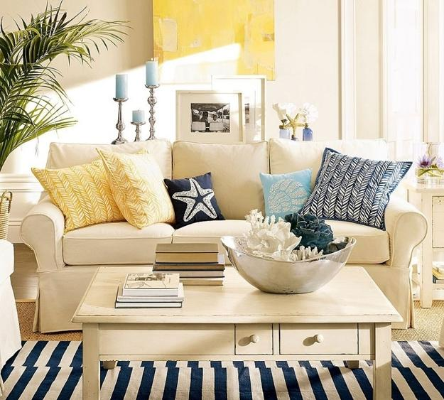 Stupendous Nautical Living Room Decorating Ideas Chic Beach House Interior Style Furniture