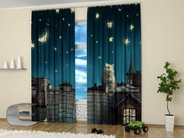 Custom Photo Curtains Adding Digital Prints To Kids Room