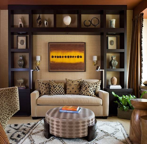 21 African Decorating Ideas for Modern Homes on Shelf Sconces For Living Rooms Contemporary id=70977