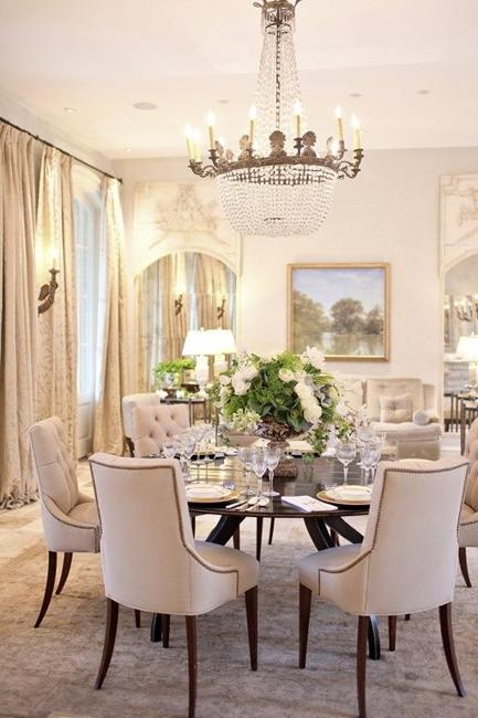 25 Ideas for Classic Dining Room Decorating with Vintage ... on Dining Room Curtains Ideas  id=54788