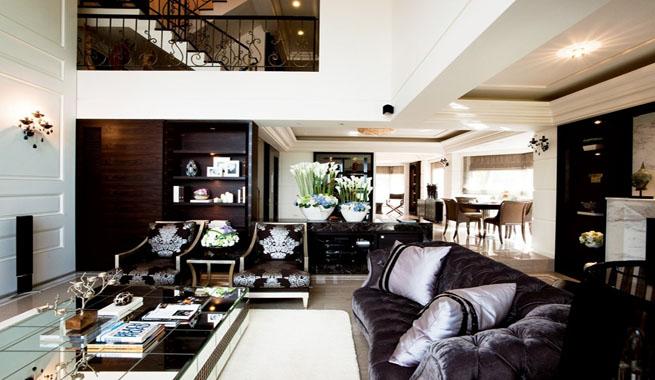 Casa actual de estilo cl sico for Renovar salon clasico