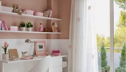 Dormitorios infantiles en blanco y rosa - Dormitorios infantiles blancos ...