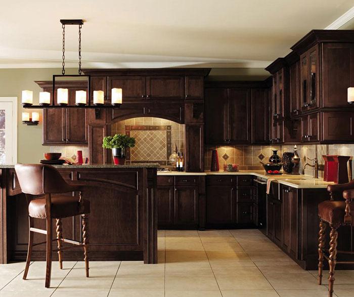 Dark Maple Kitchen Cabinets - Decora Cabinetry on Dark Maple Cabinets  id=92923