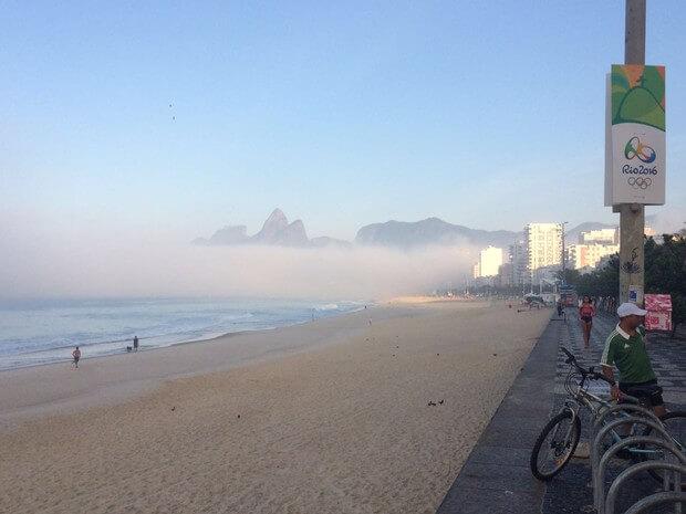 umidade na praia