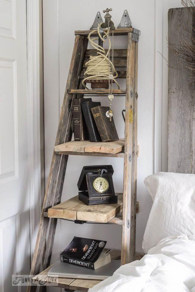 shabby chic escada de madeira