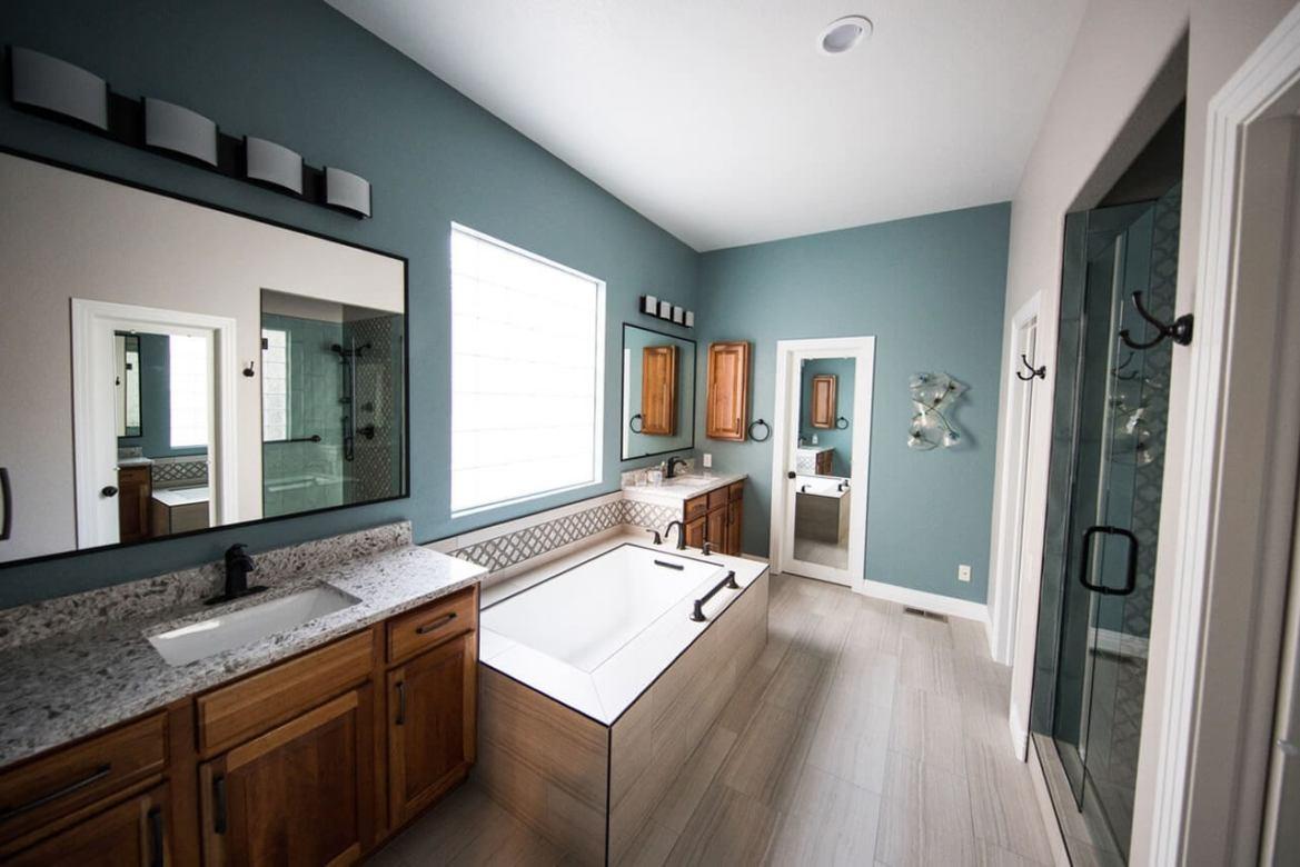 banheiro clean com banheira
