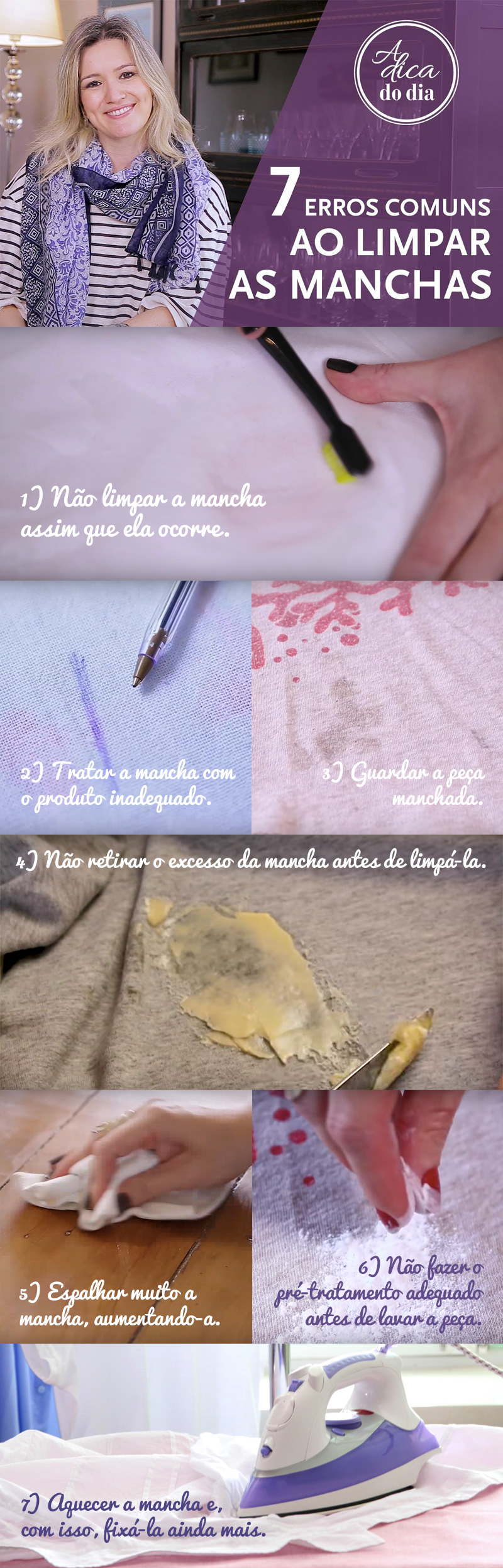 Confira os 7 erros mas comuns na hora de limpar as manchas de qualquer superfície