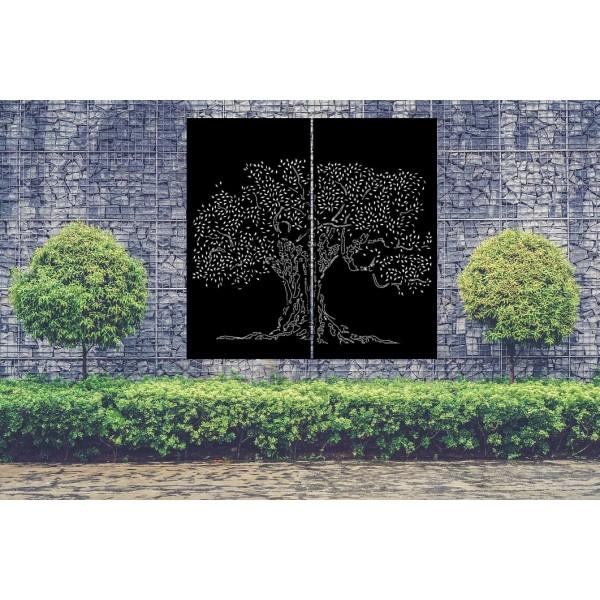 brise vue cerisier japonais en metal decor acier