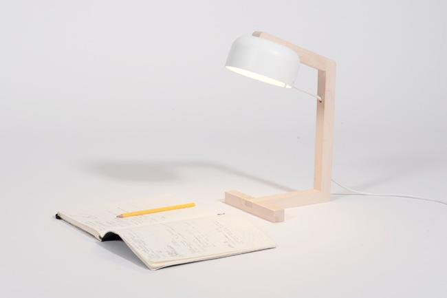 Sn vsen una lampara de mesa minimalista de estilo escandinavo - Lamparas de madera para pintar ...