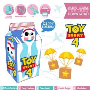 Toy Story 4 Caja Milkbox Forky